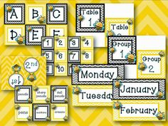 Busy Bees Classroom Labels