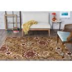 Majesty Beige 7 ft. 6 in. x 9 ft. 10 in. Transitional Area Rug
