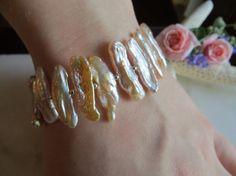 Pearl bracelet Anniversary bracelet Sterling by Inspiredby10