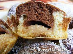 Pudinggal töltött fekete-fehér muffin