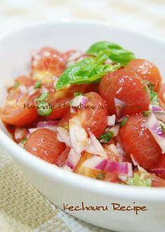 tomato and onion marinated salad