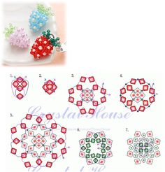 Strawberry scheme of beads and beads
