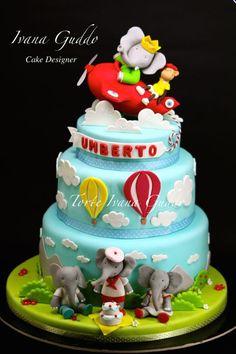 Babar the elephant cake