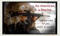 Thanking a Marine