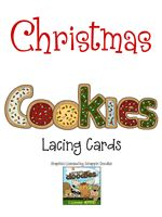 Christmas Cookie Lacing Cards - Re-pinned by @PediaStaff – Please Visit http://ht.ly/63sNt for all our pediatric therapy pins