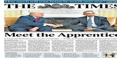 """Le """"Times"""" a fait la meilleure Une sur la rencontre de Trump/Obama"""
