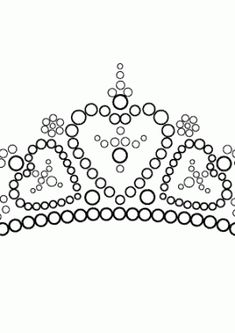 Beautiful tiara coloring page for girls printable free