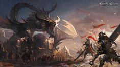 Fantasy rpg game artwork, Stone Ray on ArtStation at https://www.artstation.com/artwork/AeLa5