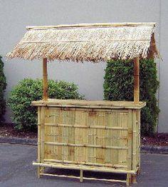 Do Yourself Tiki Hut Kits | Bamboo Tiki Hut Bar Bamboo 5' Tiki Bar with roof