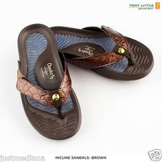 e447c933f1638c Tony Little Cheeks Womens Brown Bandals with Convertible Fashion Straps -  Sz 9 - Sold August