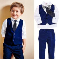 set autumn children's leisure clothing sets baby boy suit vest gentleman clothes for weddings formal clothing Boys Suit Vest, Baby Boy Suit, Boys Suits, T Shirt Vest, T Shirt And Jeans, Baby Boys, Kids Boys, Toddler Boys, Boys Summer Outfits