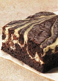 Cheesecake Brownies--beautiful, delicious and coffee filled! |Eating Well