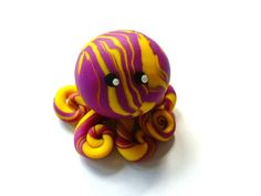 Awesome Little Octopus in Bright Yellow and by mulberrymoose, $8.00