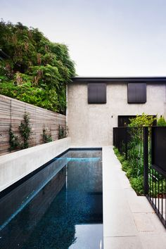 Swimming pool from heritage Victorian home with contemporary extension by Hindley & Co. Photography: Shannon McGrath | Styling: Leesa O'Reilly | Story: Belle