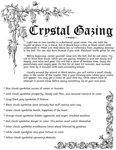 Divination: #Crystal #Gazing. - Pinned by The Mystic's Emporium on Etsy