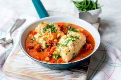Spanish Cod  Don't forget to add the paprika! Add after onions and garlic.