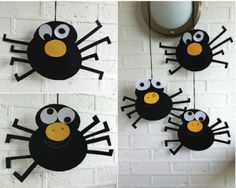 Silly Spider Mobiles for pre and post Halloween fun halloween crafts for kids Dulceros Halloween, Adornos Halloween, Manualidades Halloween, Halloween Crafts For Kids, Halloween Activities, Halloween Projects, Halloween Themes, Kids Crafts, Preschool Crafts