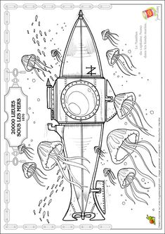 Jules Verne Coloring Page