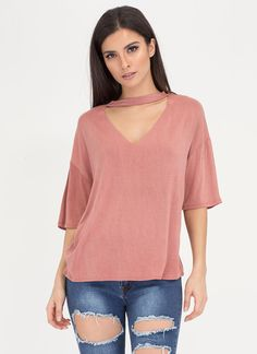 Just V Yourself Cut-Out Choker Top
