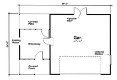 First Floor Plan of Ranch   Traditional   Garage Plan 6013