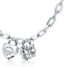 Heart And Tiffany Co Box Lock Charm Necklace