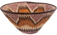 African Basket - Makalani Bowl - 11 Inches Across - #48436