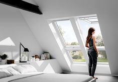 Roof windows are a type of venting skylight that opens completely.