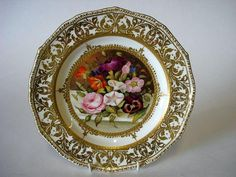 royal crown derby raised gilt plate | Derby (King Street) cabinet plate painted by Harry Sampson Hancock ...