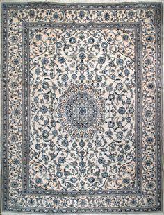 """Nain Persian Rug, Buy Handmade Nain Persian Rug 9' 8"""" x 12' 10"""", Authentic Persian Rug"""