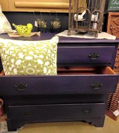 Beautiful dresser created by Teresa B using Real milk Paint!