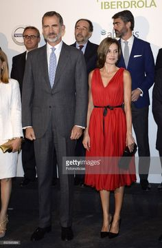 King Felipe VI of Spain and Queen Letizia of Spain attend the Vocento anniversary concert at the Teatro Real on September 21, 2017 in Madrid, Spain.