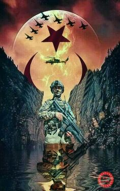 Turkish Soldiers, Ottoman Empire, Special Forces, Armed Forces, Knight, Flag, Military, Wallpaper, Illustration