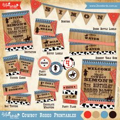 2 Love Birds 'Cowboy Rodeo' Party Printables
