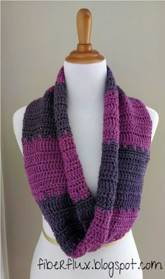 Free Crochet Pattern for Violet Tones Infinity Scarf