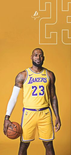 LeBron James iPhone Samsung wallpaper front 23 Los Angeles Lakers yellow LeBron James' Final Message To Kobe Bryant Will Make You Cry Lebron James Finals, Lebron James Miami Heat, Lebron James Lakers, King Lebron James, Lakers Kobe, King James, Kobe Bryant Iphone Wallpaper, Lakers Wallpaper, Lebron James Wallpapers