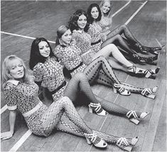 Dance troupe Pan's People modelling various stocking fashions -  2nd March 1971