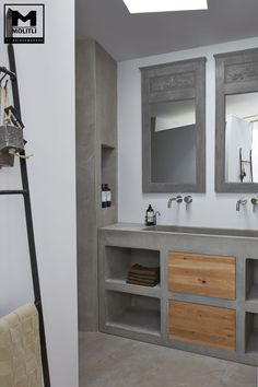upstairs bathroom remodel is categorically important for your home. Whether you pick the bathroom renovations or diy home decor for apartments, you will create the best wayfair bathroom for your own life. Public Bathrooms, Upstairs Bathrooms, Attic Bathroom, Bathroom Toilets, Minimal Bathroom, Modern Bathroom, Bad Inspiration, Bathroom Inspiration, Concrete Bathroom