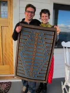 Molly Beard | holding Jeff's Rug | Portland, Oregon, U.S.A. | third generation rug weaver