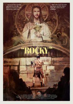 "Poster for ""Rocky"" - 1976 by John G. Rocky Balboa Movie, Rocky Balboa Poster, Rocky Poster, Best Movie Posters, Classic Movie Posters, Movie Poster Art, Rocky Sylvester Stallone, Rocky Stallone, Rocky 1976"