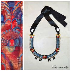 JEWELRY | Chryssomally || Art & Fashion Designer - Tribal inspired statement necklace, with blue and red corals, mother of pearl and crystals Red Coral, Blue, Fashion Art, Fashion Design, Corals, Pearl, Personalized Items, Inspired, Crystals