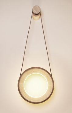 Halo Lamp by Kjartan Oskarsson, pull on right, pull off left.   MOCO LOCO