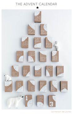 Holiday craft by La maison de Loulou :: Advent calendar