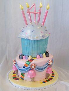 Adorable Candy Land Birthday Cake