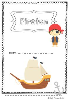 piratenwerkboekje met reken en taal opdrachten voor groep 3