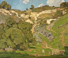 William Wendt - Upward trail, oil on canvas