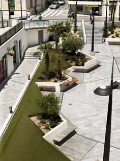 Landscape And Urbanism, Landscape Elements, Landscape Architecture Design, Urban Architecture, Landscape Plans, Urban Landscape, Amazing Architecture, Atrium Design, Plaza Design