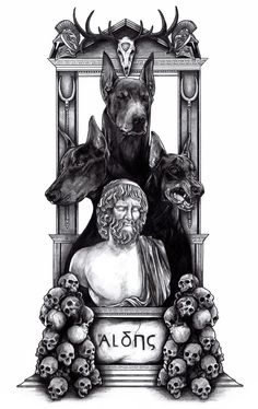 Hades, god of the underworld, is the son of the titans Cronus and Rhea, and the sibling to Hestia, Demeter, Poseidon, Hera, and Zeus. After the Titanomachy, Zeus became the king of the gods, Poseidon took over the earth, and Hades was thrusted into the underworld. Alone and seeking company, Hades goes to Zeus and asks for a bride. Zeus offers his daughter by Demeter, Persephone, but no one informs either goddess, and Persephone becomes his queen of the underworld.