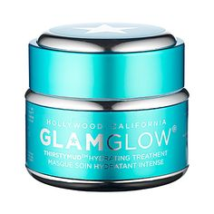 GlamGlow hydrating treatment | WHAT IT IS: A non drying hydration mask to deliver instant, extreme hydration.WHAT IT IS FORMULATED TO DO:THIRSTYMUD™ uses the newest, most advanced, and extreme hydration active technologies. It moisturizes, restores, replenishes, and calms the skin. Dewdration™ boosts and locks in moisture for a dewy and youthful result while HydraPack™ leaves skin with an instant silky, soft, and supple feel. GreenEnergy™ smooths and energizes the skin, giving you a…