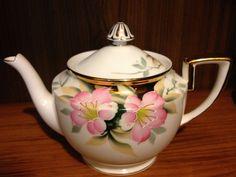 Vintage Noritake Azalea Hard To Find Tea Pot w Gold Lid