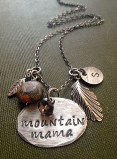 Mountain Mama Necklace West Virginia Jewelry by JewelryByDawnya, $40.00